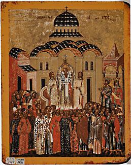 Воздвижение Креста Господня. (Новгород, XV век)