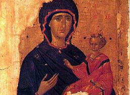 Икона Божией Матери «Одигитрия». Первая четверь XV века Византия