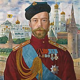 Портрет российского императора Николая Второго работы Б. М. Кустодиева (1915 г.) / Государственный Русский музей