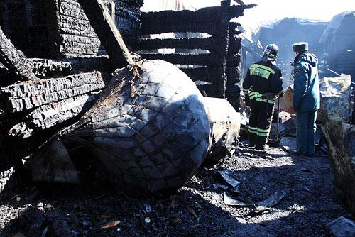В Хабаровске сгорел храм