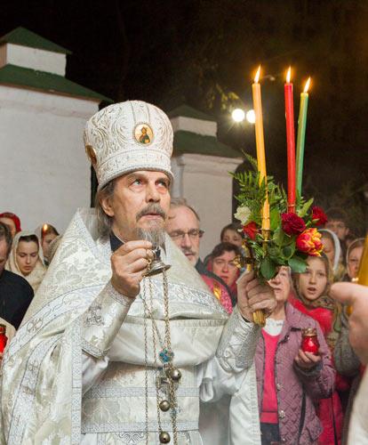 Пасхальное богослужение в храме Свт. Николая в Пыжах.