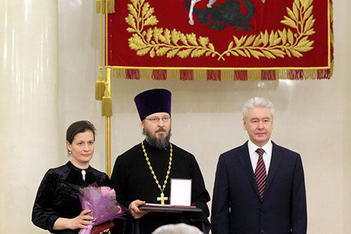 Протоиерей Валерий Гурин и матушка Татьяна награждены Орденом родительской славы